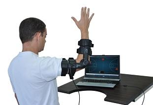 Аппарат для активной реабилитации плечевого и локтевого сустава ArmTutor с биологической обратной связью.